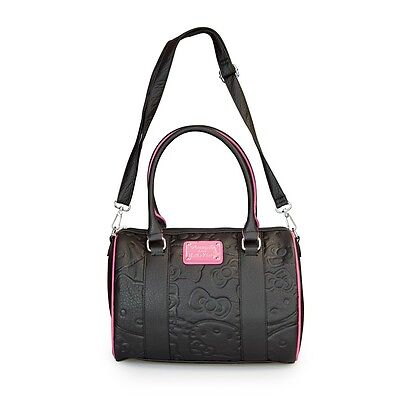 NWT Loungefly Hello Kitty Black/Pink Embossed Faux Leather Duffle Bag
