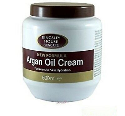 KINGSLEY HOUSE SKINCARE ARGAN OIL CREAM FOR INTENSIVE SKIN HYDRATION 500ml