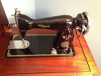 R.H. Macy & Co. National Sewing Machine Table Model Vintage Deluxe Precision