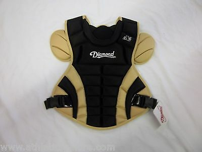 DIAMOND DCP-iX5 FP FASTPITCH SOFTBALL CATCHERS CHEST PROTECTOR BLACK/VEGAS GOLD