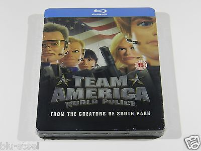Team America Blu-ray Steelbook [UK Import] NEW SEALED!!! OOP!!! LOW 4000 PRINT