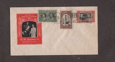 1939 Canada H.M. George VI & The Queen Visit to Canada Cover