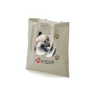 I Love My Keeshond Printed Design Tote Shopping Bag