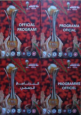 FIFA CLUB WORLD CUP MOROCCO 2014  - Complete set of 4 different programmes