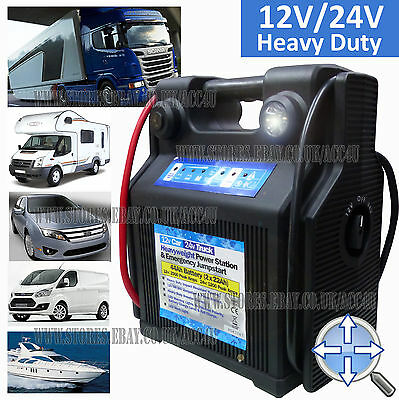 12v Car 24v Truck Heavy Duty Portable 44Ah Battery Jump Starter Power Station