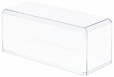 """2 Clear Acrylic Display Cases For 1:18 Scale Cars - 13"""" x 5.5"""" x 5"""""""