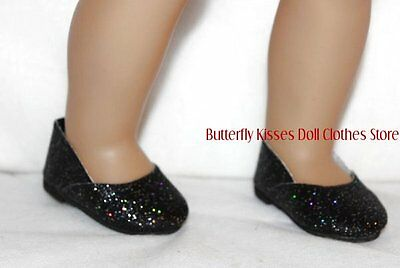 Black Rainbow Sparkle Shoes Doll Clothes Made For 18 in American Girl Dolls