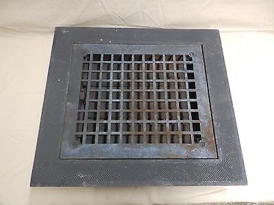 Antique Cast Iron Heat Grate Vent Register Surround Vent Vintage Old 3998-14