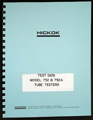 Hickok 752 752A Tube Test Data Book