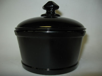 Black amethyst Glass serving domed butter dish milk tub 1 pound round / purple