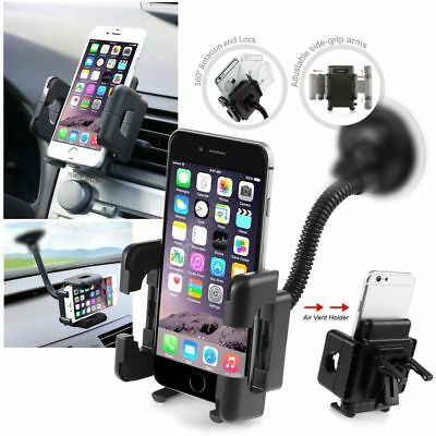 UNIVERSAL CAR MOUNT HOLDER STAND CRADLE For iPhone X 8 7 Plus 6 6S 5 5G 5S 4 4S