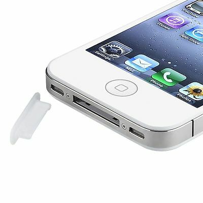 3x Clear Soft Plug Dock Anti Dust Cap Cover For iPhone 4 4S 3G 3GS Gen