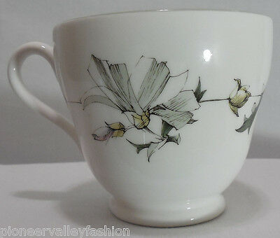 Spode Summerfield Coffee Tea Cup Bone China Floral White Y.8103
