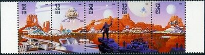 1998 32c Space Discovery, Strip of 5 Scott 3238-42 Mint F/VF NH