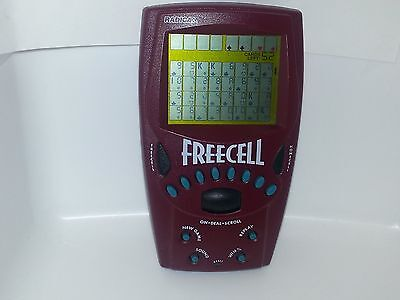 FREECELL Solitaire Handheld Electronic Game Radica 1999,Works Great