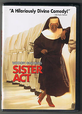 Sister Act Comedy DVD Whoopi Goldbert Harvey Keitel, Emile Abolino, Like New!