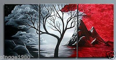 3PIECES MODERN ABSTRACT HUGE WALL ART OIL PAINTING ON CANVAS(NO frame) P056