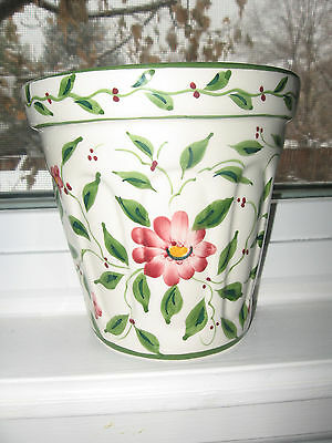 Decorative Wall Hanging Flower Pot Hand Painted in Portugal