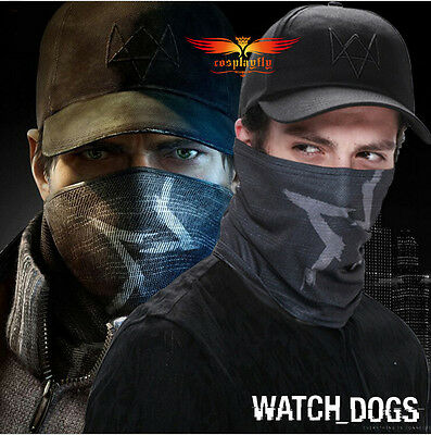 Watch Dogs Aiden Pearce Cosplay Hat Tube Face Mask Scarf Costume