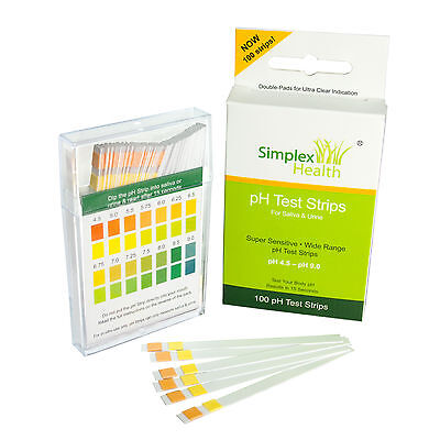 Alkalising pH Dual Test Strips Test Urine & Saliva