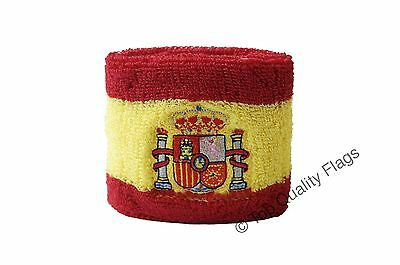 WRISTBAND Spain with coat of arms Flag SWEATBAND 7x8cm