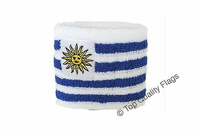 WRISTBAND Uruguay Flag SWEATBAND 7x8cm SET of 2 pcs