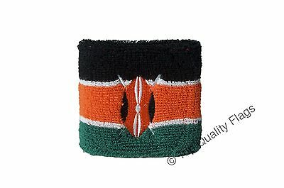 WRISTBAND Kenya Flag SWEATBAND 7x8cm SET of 2 pcs