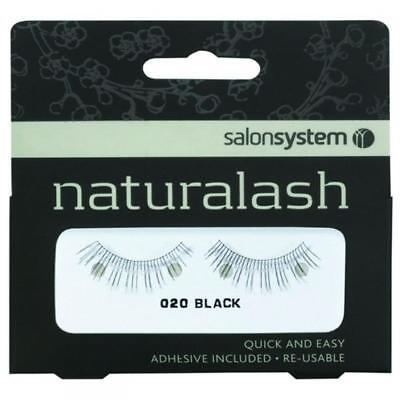 Salon System Re-Usable False Fake Black Lashes 020 EyeLashes Natural Looking