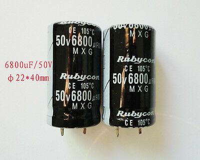 Capacitor 2X6800uF 50V Electrolytic radial Capacitor DIP NEW 2pcs High quality