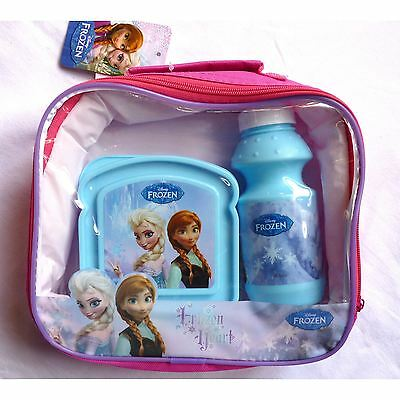 Disney Frozen 3 Piece Lunch Bag Set With Bottle & Container