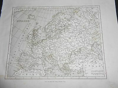 Europe Maps 1835 Ancient Map Europe By Monin Fremin Published By Binet Paris