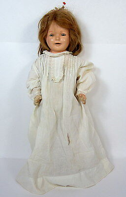 """ANTIQUE 25"""" COMPOSITION DOLL """"PERFECT"""" GIRL in Nightgown"""