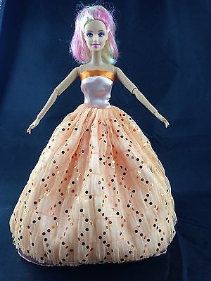 New Fashion Long Princess Dress/Gown Clothe For Barbie Doll kid's Gift 3002