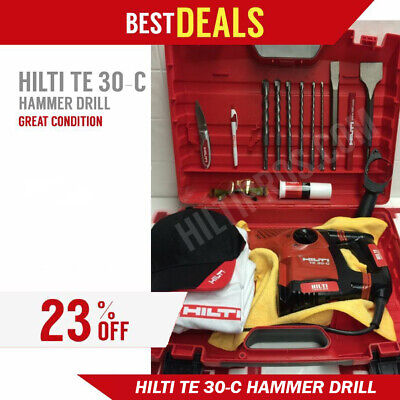 Hilti Te 30-C Avr Hammer Drill, Excellent Condition, Free Extras, Fast Ship