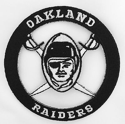 "Oakland Raiders Vintage Embroidered Iron On Patch (Old Stock) 3.0"" x 3.0"" RARE"
