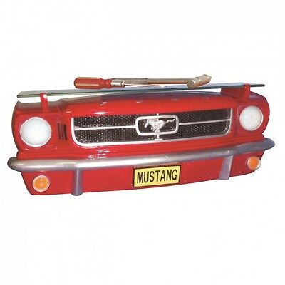 Ford Mustang 1964 3D Wandregal Regal rot Auto Stoßstange Front Oldtimer Retro