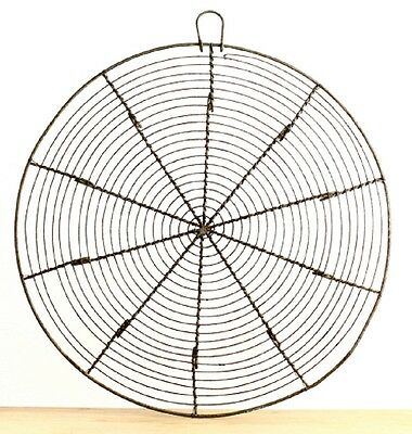 Vintage 1920s Extra Large French Round Wire Cooling Rack Trivet  ~ 14.25 inches