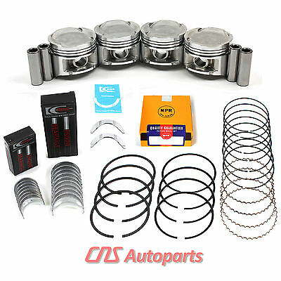 92-95 Honda Civic EX Del Sol Si 1.6L D16Z6 P28 Pistons, Rings, Main Rod Bearings
