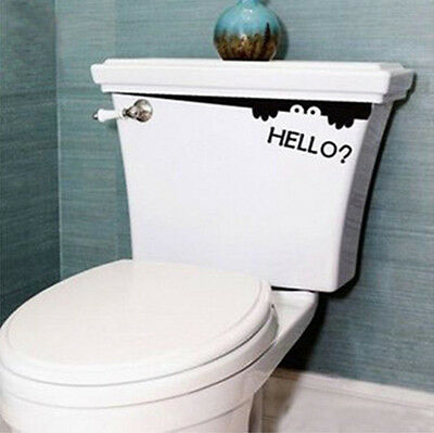 NEW Creative Toilet Monster Hello Bathroom Decal Funny vinyl sticker wall art