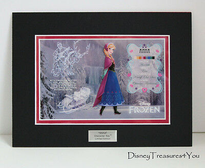 Disney Frozen ANNA Character Key VARIANT Art Cel LIMITED EDITION Elsa LE2500