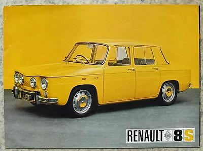 RENAULT 8 S Car Sales Brochure 1968-69 #0968
