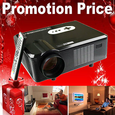 3D Effect Multimedia Home Cinema 3000 Lumens 1080P HD LCD LED Projector HDMI TV
