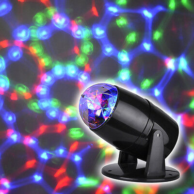 Novelty Rotating Multi Colour LED Projector Disco Party Lights Table Light Lamp