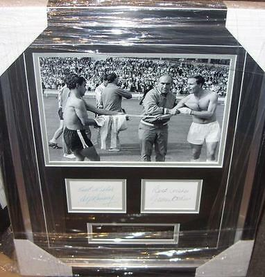 Alf Ramsey & George Cohen Signed England 1966 World Cup Aftel
