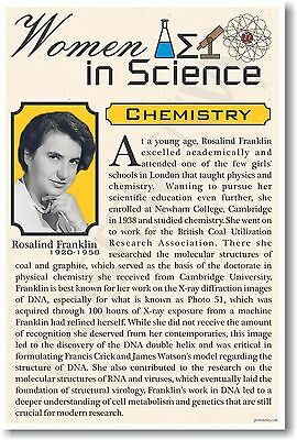 Rosalind Franklin - High School - NEW Famous Women In Science Poster (fp317)