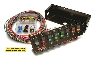 Painless Wiring 50303 8-Switch Fused Race Car Panel w/Wiring & Rocker Switches