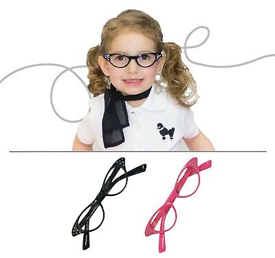 Hip Hop 50s Shop Baby/Toddler Cat Eye Glasses Halloween Poodle Skirt Costume