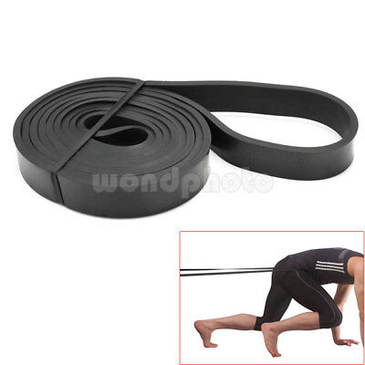 Black Crossfit Resistance Rubber Band Gym Body Training Powerlifting Pull Up