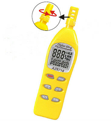 AZ8716 Thermometer / Hygrometer/Wet Bulb Temperature and Humidity Meter AZ-8716