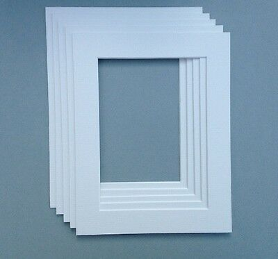 14 X 11 Inch White Mounts to fit 12 X 8 Picture or Photo  5 PACK
